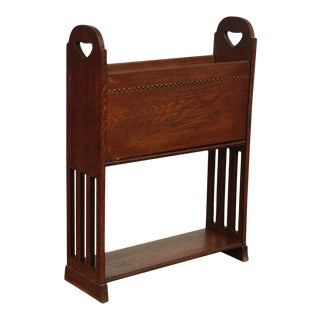 Antique Arts and Crafts Magazine Stand For Sale