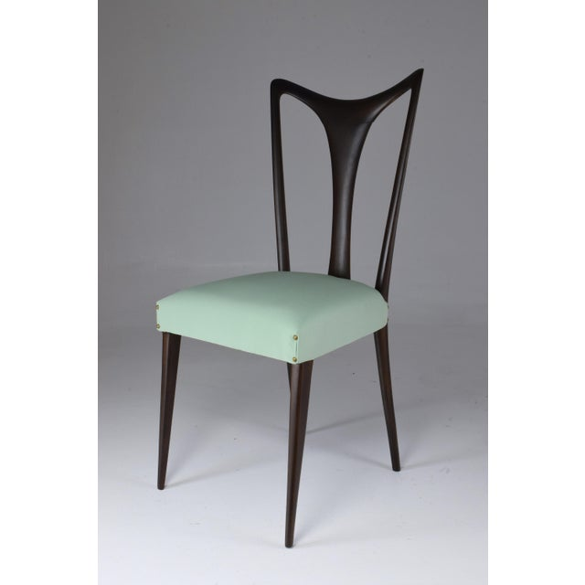 Italian Vintage Dining Chairs Attributed to Guglielmo Ulrich, Set of Six, 1940s For Sale - Image 10 of 13