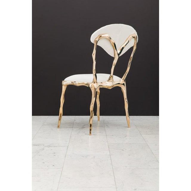 Metal Markus Haase, Faceted Bronze Dining Chair, Usa, 2018 For Sale - Image 7 of 13