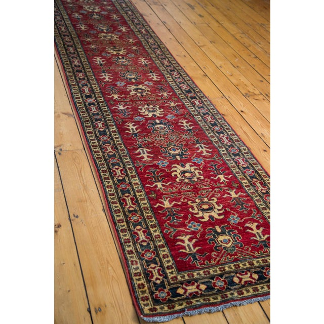 New Pak Kazak Caucasian design rug runner. Many years of enjoyment to come with this rug! Recently professionally cleaned,...