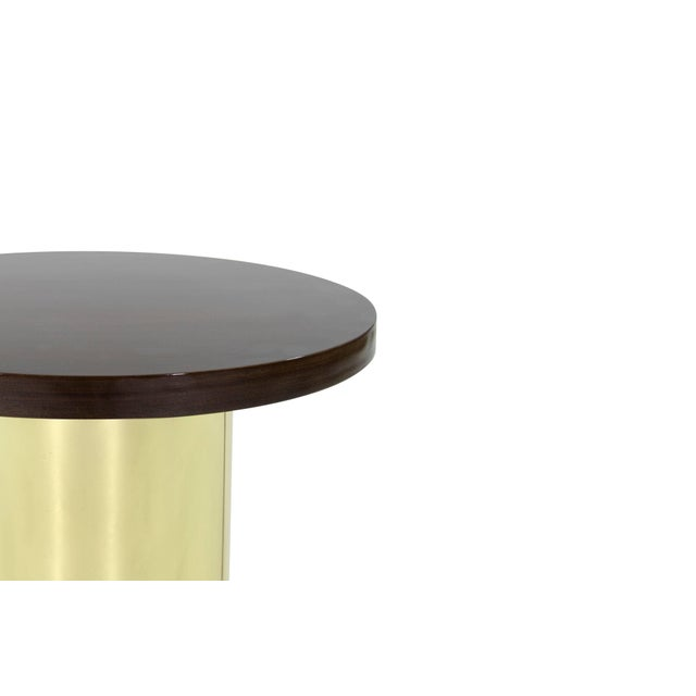 Metal Brass Pedestal by Curtis Jere For Sale - Image 7 of 8