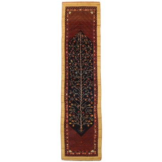 """1920's Antique Persian Rug Bakhtiari Style With Animal and Geometric Patterns 3'2"""" x 12'5"""" For Sale"""