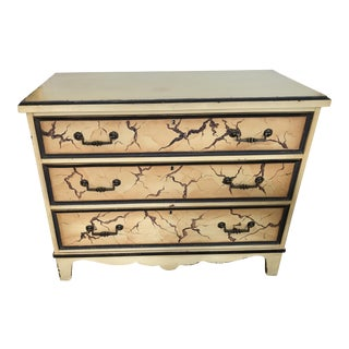 Vintage Hickory White Savannah Collection Chinoiserie Painted Chest For Sale