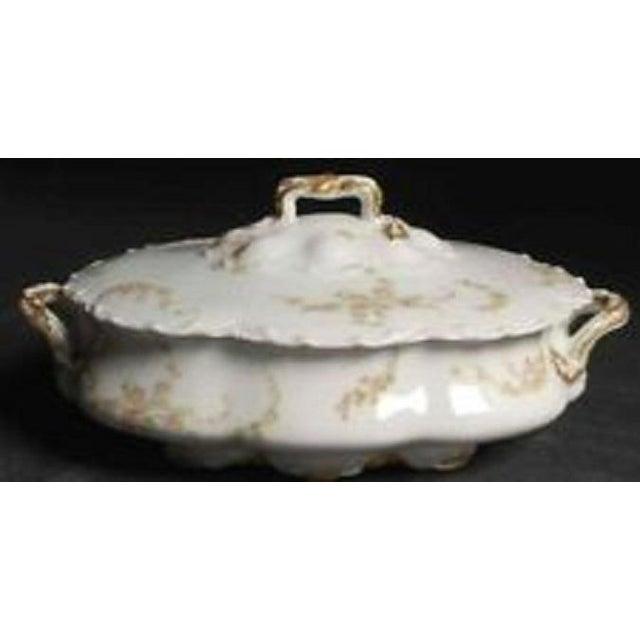 Haviland & Co. Haviland Limoges France Oval Covered Vegetable Bowl Schleiger 233a For Sale - Image 4 of 7