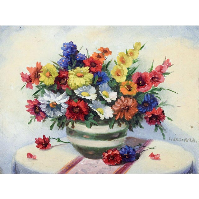 Wild Flower Still Life Painting For Sale - Image 4 of 4