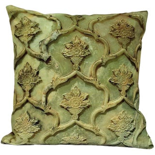 1990s Arts and Crafts Decorative Persian Accent Pillow - 17ʺW × 17ʺH For Sale