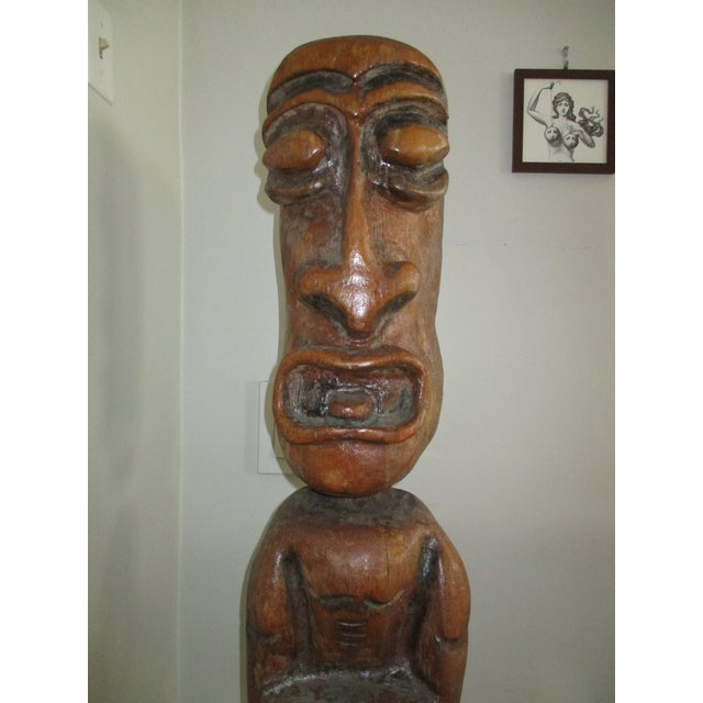 Carved Tiki Garden Statue - Image 4 of 7