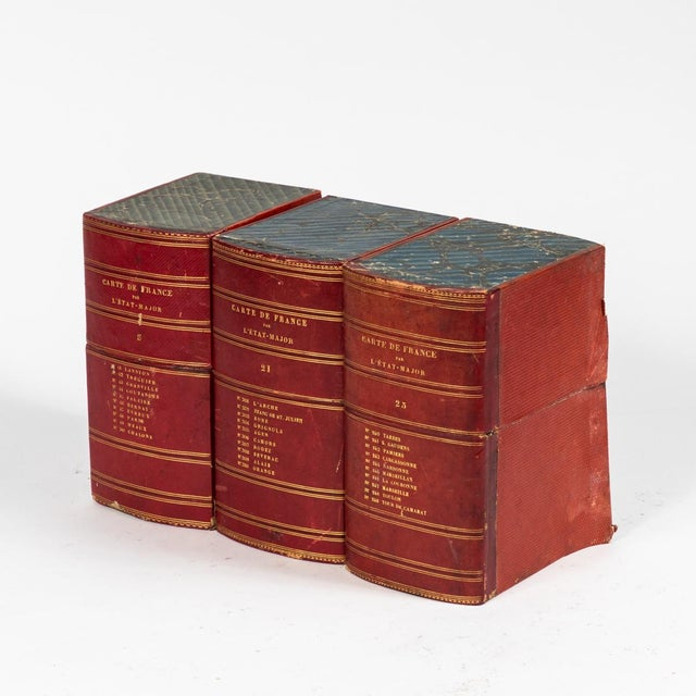 1900 - 1909 Red Book Boxes With Blue Interior For Sale - Image 5 of 7