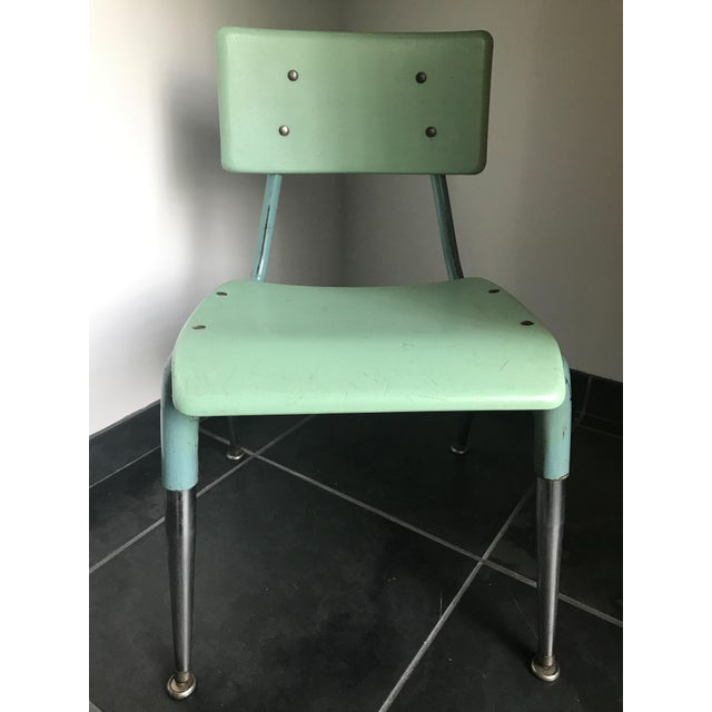 1950s Vintage 1950's Child Chair For Sale - Image 5 of 5