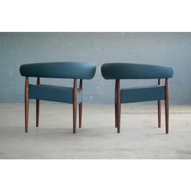 Nanna Ditzel for Getama Ring Chairs in Walnut and Wool - a Pair For Sale - Image 9 of 12