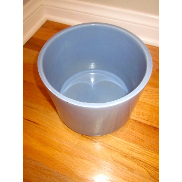 Gainey Ceramics Blue Architectural Pottery Planter For Sale - Image 7 of 11