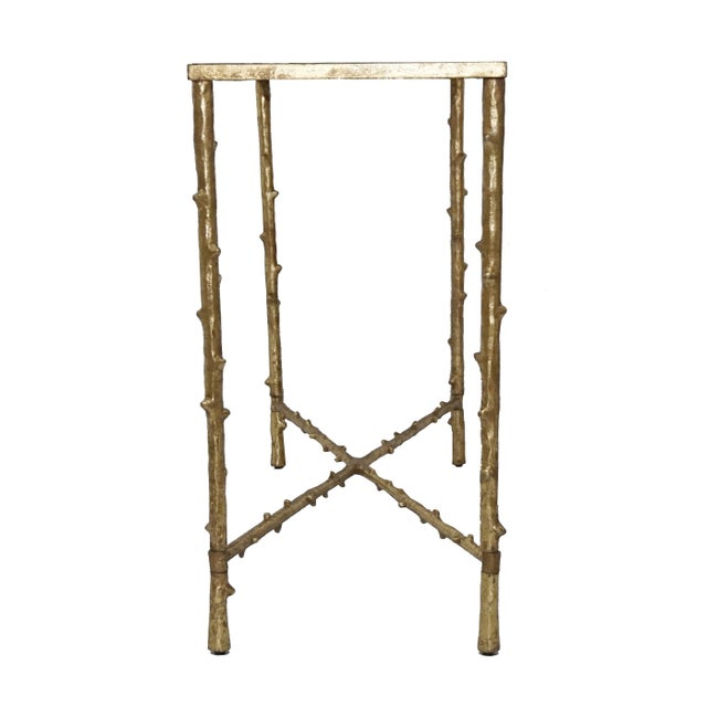 Glostrup Metal Entryway Console Table With Mirror Top - Image 6 of 7