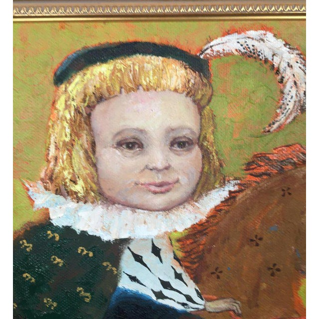 1990s Vintage Russian Whimsical Paintings by Elena Kallistova- A Pair For Sale - Image 4 of 13