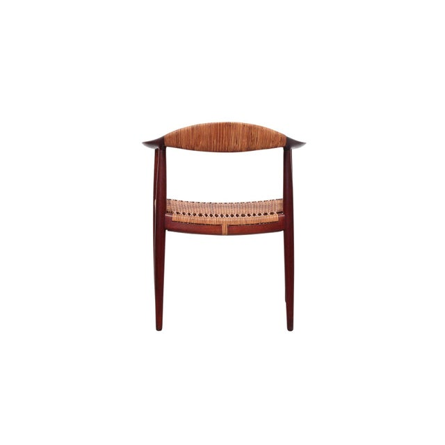 1960s Hans Wegner Classic Cane Chair For Sale - Image 5 of 13