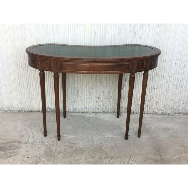 Coromandel and Marquetry Inlaid Victorian Period Kidney Lady Desk For Sale - Image 11 of 13