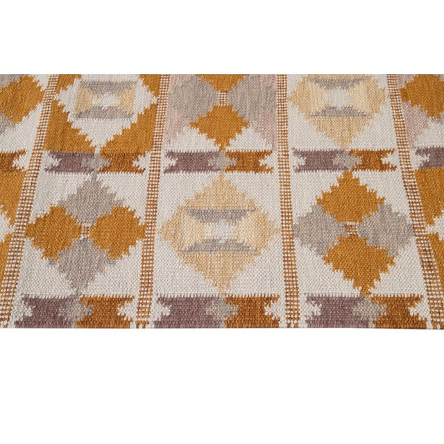 Ivory 21st Century Modern Swedish-Style Wool Runner Rug For Sale - Image 8 of 12