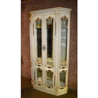 1950s Vintage French Provincial China Cabinet Preview