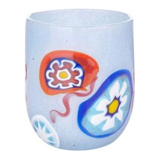 LagunaB Baby Ice Blue Handmade Murano Glass Tumbler For Sale