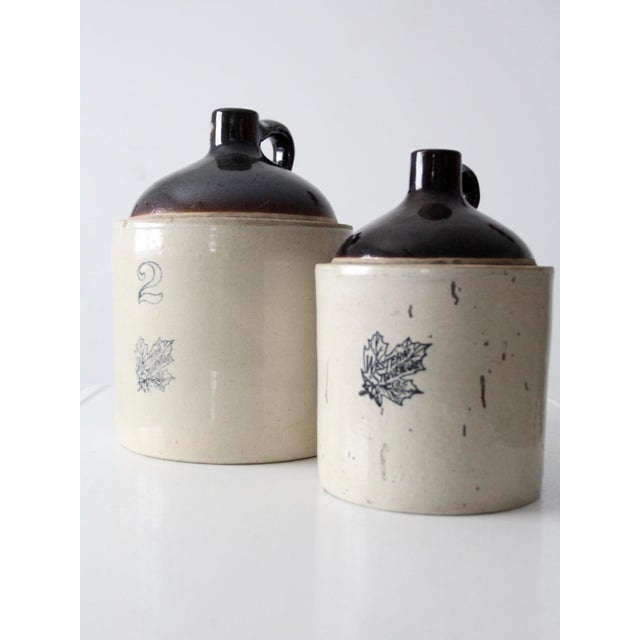 Mid 19th Century Antique Western Stoneware Jugs - A Pair For Sale - Image 5 of 9