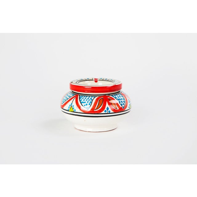 Moroccan Atlas Multicolored Ceramic Ashtray - Image 3 of 3