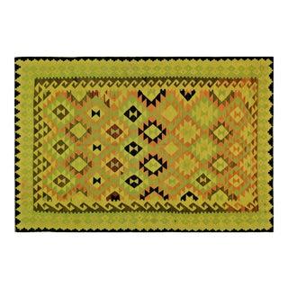 "Vintage Afghan Hand Made Wool Maimana Kilim,6'9""x10'2"" For Sale"