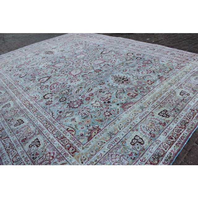 Islamic Vintage Mashad Wool Rug - 9′1″ × 12′ For Sale - Image 3 of 8