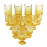 Image of 1970s Discontinued Franciscan Madeira Pattern Glasses in Cornsilk - Set of 14 For Sale