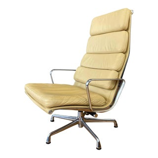 4 Cushion Eames Soft Pad Lounge Chair for Herman Miller in Leather For Sale
