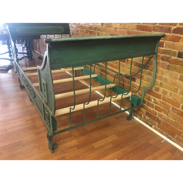 Antique French Iron Daybed For Sale - Image 4 of 12