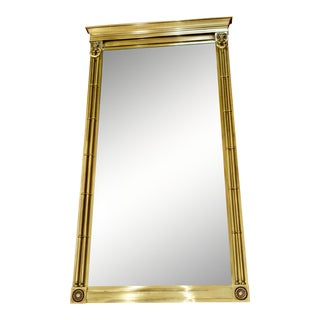 Mid 20th Century Labarge Brass Mirror For Sale