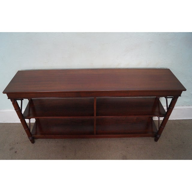 Custom Quality Mahogany Console Etagere For Sale - Image 4 of 10