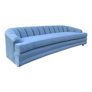 Vintage Hollywood Regency Blue Sofa For Sale