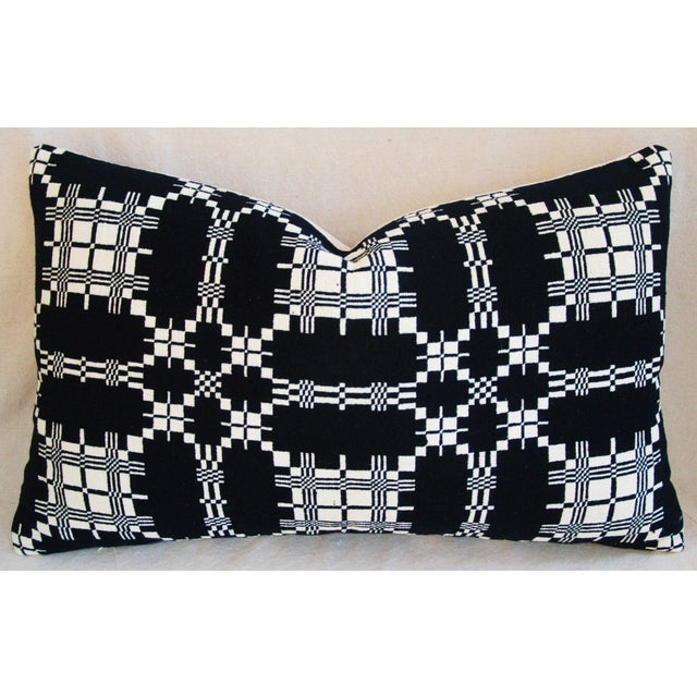 Custom 19th-C. New England Coverlet Pillows - Pair - Image 5 of 11