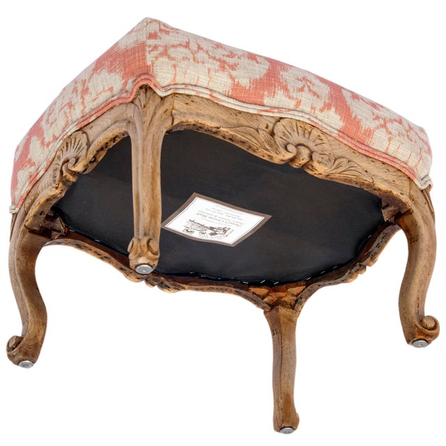 1900s Vintage Handcarved French Oak Footstool For Sale - Image 4 of 6