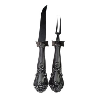 Web Silver Co. Sterling Carving Set - A Pair