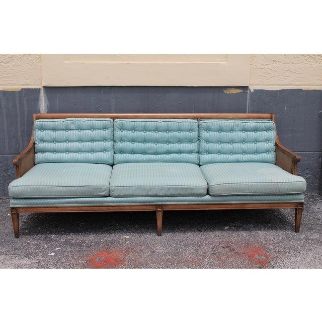 "Mid Century Neoclassical ""Hamptons"" Sofa - Image 2 of 11"