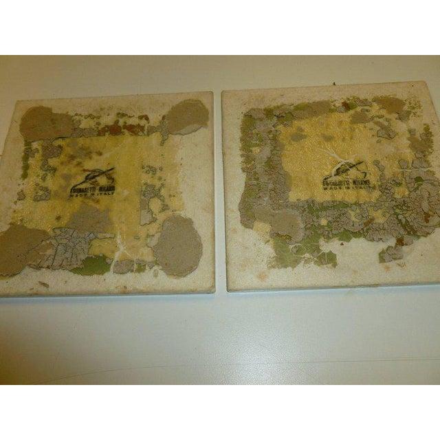 Pair of Rare Vintage Fornasetti Ceramic Jester Ceramic Plaques Custom Framed For Sale - Image 12 of 13