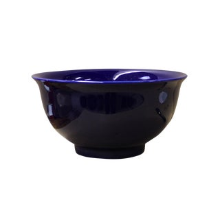 Chinese Navy Blue Glaze Porcelain Bowl