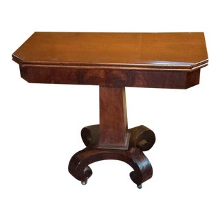 19th Century Empire Mahogany Gaming Table For Sale