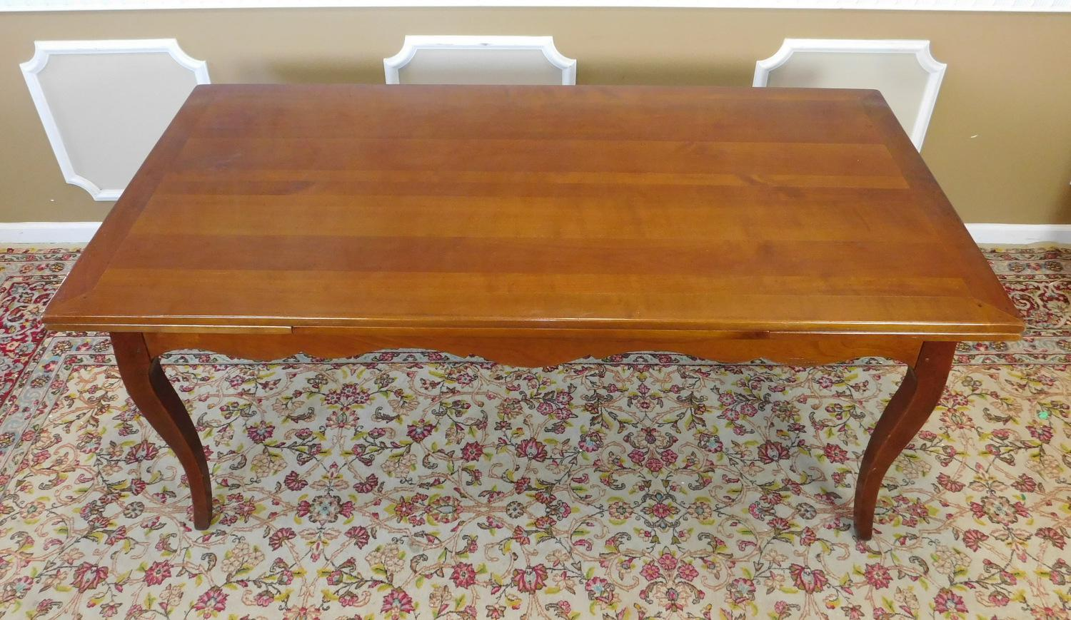 French Country Grange Furniture Cherry Refectory Draw Leaf Dining Room  Table Image Of With Grange Furniture Usa.