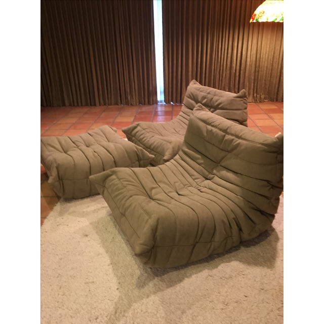 Ligne Rose Togo Chairs and Ottoman - 3 - Image 2 of 4