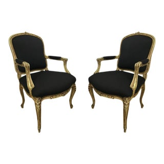 Louis XVI Armchairs - a Pair