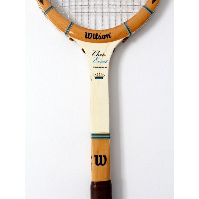 Industrial 1970s Wilson Chris Evert Tennis Racquet For Sale - Image 3 of 12