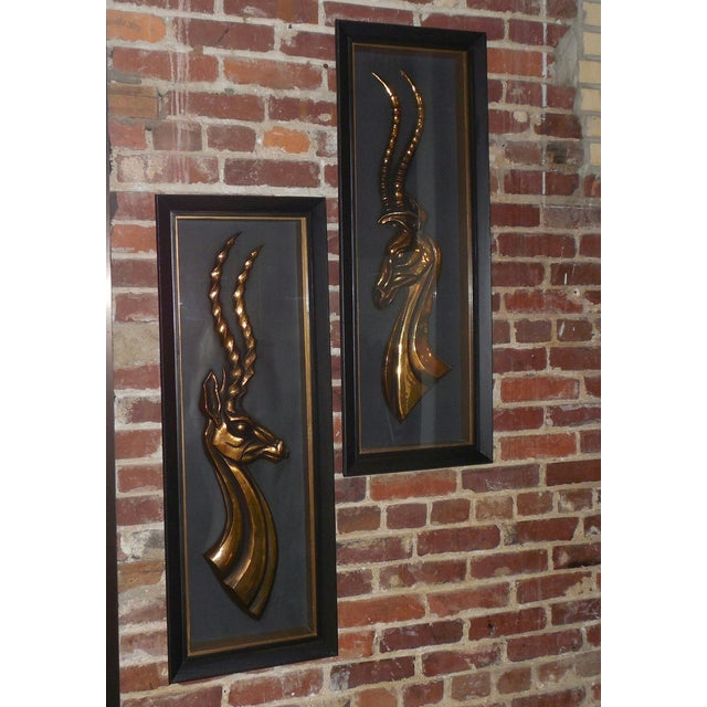 Hollywood Regency Gazelle Shadow Boxes - A Pair - Image 3 of 8
