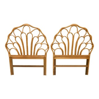 Vintage Rattan Twin Size Headboards, a Pair For Sale