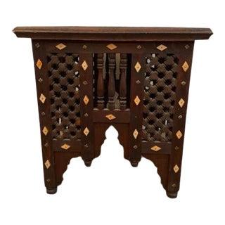 Moorish Wood Side Table For Sale
