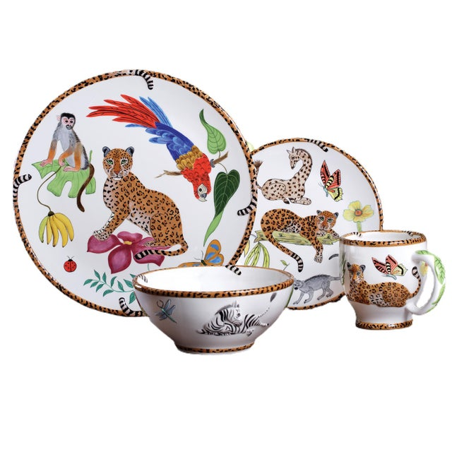 Vintage Lynn Chase Jungle Jubilee Dinnerware Service for 11 - Set of 44 For Sale - Image 9 of 9