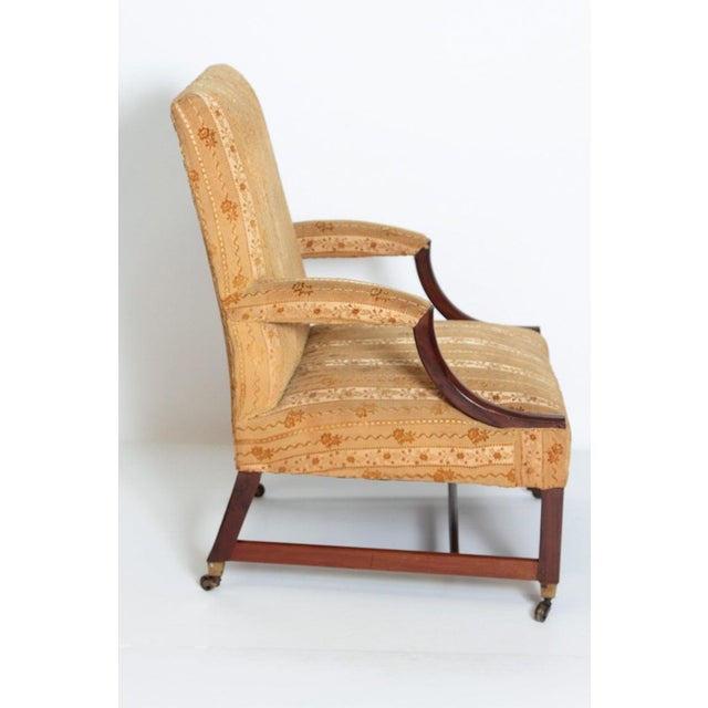 """Georgian 18th Century George III Upholstered """"Gainsborough"""" Library Chair For Sale - Image 3 of 12"""