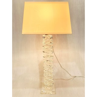 Stacked Crystal Lamp With Silk Shade by e.f. Chapman for Visual Comfort with Shade Preview