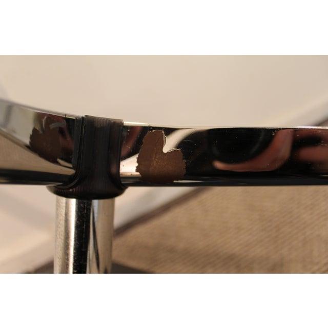Chrome Overman Mid-Century Black Chrome Swivel Ottoman/Foot Stool For Sale - Image 7 of 11